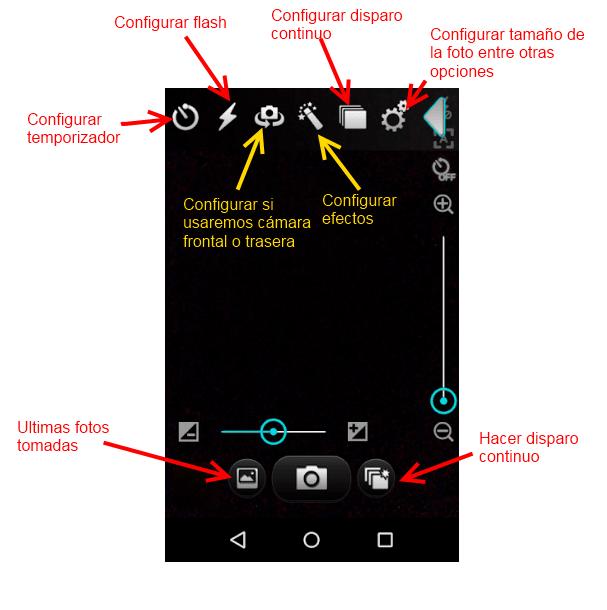 Configuraciones de Silent Camera